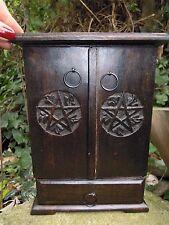 Pentagram cupboard herb Cupboard Altar spell supplies Witchcraft Pagan