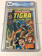Marvel Premiere 42 Cgc 9.4 White Pages First Tigra Origin