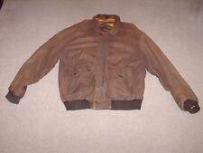 Vintage Structure Men's Brown Leather Flight Bomber Jacket Size XL