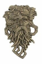 Tree Hanging Cast Iron Old Man Face Bearded Leaf Garden Outdoor Patio Decor Gift