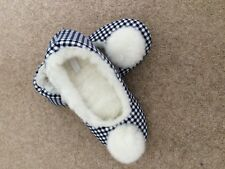 Blue Check Slippers