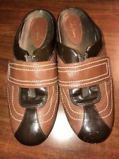 COLE HAAN Women's Size 7.5 Slip On Brown Mule Moccasin Loafers