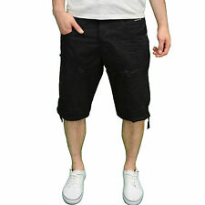 Crosshatch Mens DESIGNER Branded Summer Combat Casual Shorts Black 36w