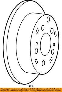 CHRYSLER OEM Rear Brake-Rotor 4743999AA