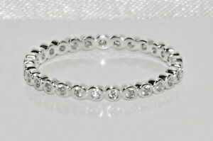 Sterling Silver Sparkling Full Eternity Ring - All Sizes - 925 Silver