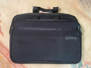 Briggs & Riley Travelware Black Leather Briefcase/Overnight