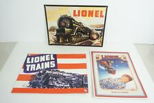 Desperate Sign Co. Set of 3 Tin Lionel Signs PRR & Hudson Steam Engine Signs
