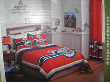 NEW CIRCO VINTAGE CAR 4 PC FULL QUEEN QUILT 2 SHAMS & DECORATIVE PILLOW SET NWT