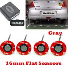 Gray Adjustable Car Auto 4 Parking Backup Sensors Kit Reverse Radar Sound System