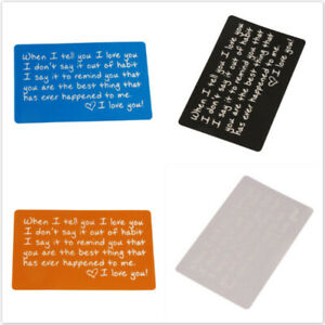 Inspired Words Sign Lover Gift Cards Wallet Card Sentimental Anniversary DP