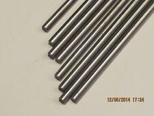 """3/16"""" .187  Stainless Steel Rod / Bar Round 304  10 Pcs  12"""" Long"""