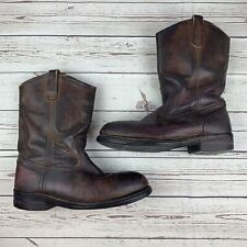 Red Wing Boots Pull On Crepe Sole Distressed Shoes Pecos Mens Size 10 Brown