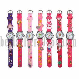 Nette Cartoon Muster Armbanduhren Quarz Analog Armbanduhr Für Kinder Mädchen