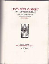 Le Colonel Chabert.  Gravures sur bois originales de Dignimont -Ex. Nominatif