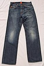 HUGO BOSS HB1 25990 100% COTTON MENS 30 X 32 BLUE JEANS - NICE STITCHING & SOFT!