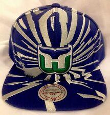 NWT Hartford Whalers Snapback Mitchell & Ness Baseball Cap Hat NHL  Blue/Silver