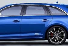 Genuine Audi Four Rings Logo Sticker Set - Floret/Foil Silver