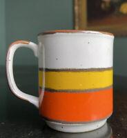 Hearthside Buffet Ware Number 554 Japan Orange Stripe Speckled Vintage mug