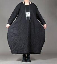 ♦ AKH Fashion Ballon-Kleid EG 44,46,48,50,52,54 schwarz, gecrasht, Langarm  ♦