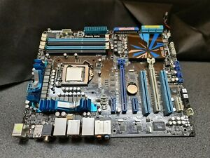 ASUS P7P55D-E DELUXE Mainboard ATX Sockel 1156 mit Intel I5 750 CPU