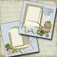 Welcome Baby - 2 Premade Scrapbook Pages - EZ Layout 4208