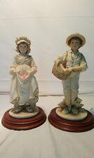 Couple de figurine leonardo collection porcelaine de 1988