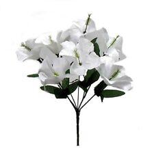 5 Hibiscus WHITE Wedding Centerpieces Flowers Bridal Bouquet Home Decor