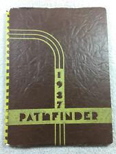1937 Pathfinder Yearbook Burlington High School Iowa Annual Genealogy Blackhawk