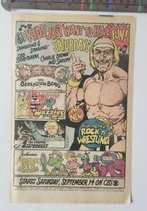 Hulk hogans rock n wrestling RARE Print Advertisement