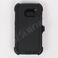 For Samsung Galaxy (S6 Edge) Black Defender Case with Screen Protector