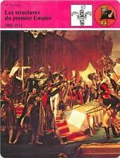 FICHE CARD Les structures Premier Empire 1804-1814 Napoléon Bonaparte France 90s