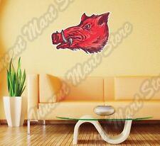 "Wild Boar Hog Feral Pig Head Razorback Wall Sticker Room Interior Decor 25""X18"""