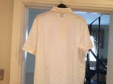 Boss mens white short sleeve polo shirt size M
