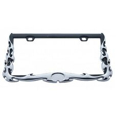 Chrome Flame License Plate Frame