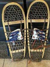 "Vintage Viking Snowshoes Snow Shoes 10"" x 36"" with Bindings made in Cadillac Mi."