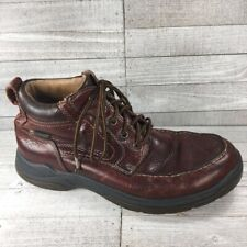 Johnston & Murphy Mens Hiking Boots Brown Leather Lace Up Moc Toe Vintage 10 M