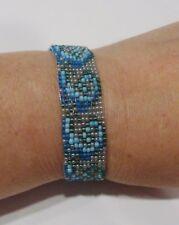 handmade sea waves pattern beaded bracelet