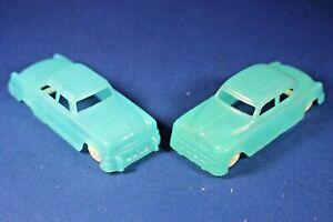 Plasticville - O-O27 - #V-6 - Original vintage Translucent Blue Auto (2) HTF