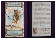 CARTE IMAGE CHROMO RECLAME CHOCOLAT POULAIN ORANGE L'OISEAU BLEU N°4