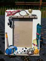 "#1 Player Baseball Football Soccer Hockey Ski Sports 5"" x 3"" Photo Picture Frame"