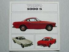 Prospekt Volvo 1800 S,  8.1965, 4 Seiten, holländisch