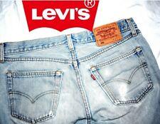 LEVI'S jeans 501 ORIGINAL tg.33 cropped colore azzurro USED