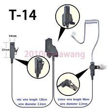 2-wire Surveillance Earpiece for Motorola HT1000 MTS2000 XTS1500 Portable Radio