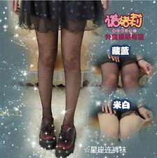 Sexy Kawaii Womens Galaxy Constellation Lolita Tights Pantyhose Cosplay Cute