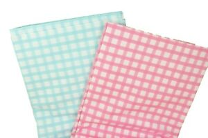 """GINGHAM Print TABLE COVER 54"""" X 108"""" Medium Weight Plastic CHOOSE COLOR"""