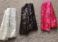 Woman Girl Party Sequins Shine Bling Costume Fingerless arm wrist Gloves sleeves