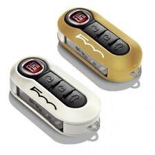 Genuine Fiat 500 Key Cover Set Ochre Pastel and White Pastel New 50926870 GLO