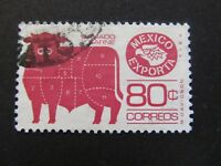 1975/87 - MEXICO - MEAT CUTS MARKED ON STEER - SCOTT 1113 A320 80C