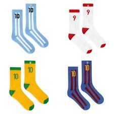 4LCK soccer, football fan socks 10 and 9 - Brazil Argentina Barcelona Poland