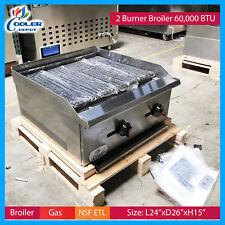 "24"" Radiant Broiler Char Grill Commercial Restaurant use Nsf Cooler Depot"